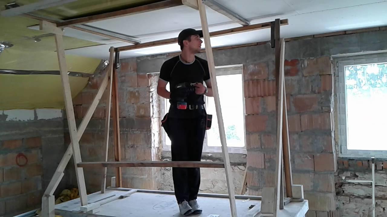 Niewiarygodnie Podnośnik do płyt gipsowych, jak zrobić.plasterboard lift - YouTube KX12