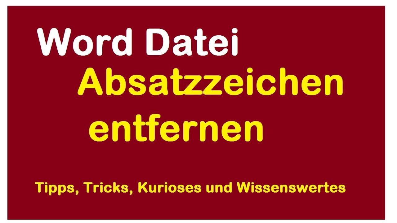 Word Absatzzeichen Entfernen Anzeigen Absatzmarken