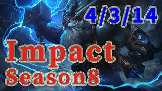 Team Liquid Impact Ornn TOP vs Riven Patch 8.17