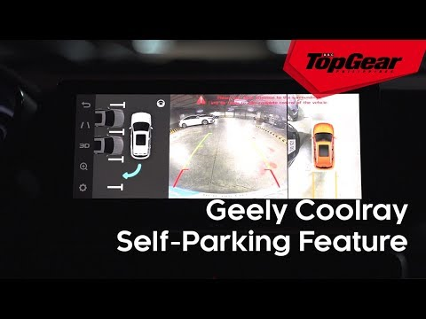The Geely Coolray's self-parking feature