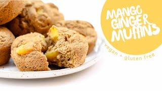 Mango Ginger Muffins • Hclf Vegan