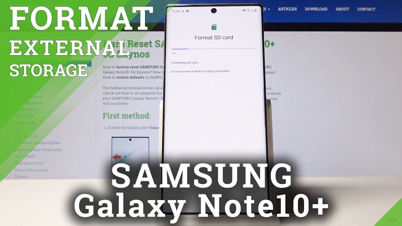 How to Format SD Card in SAMSUNG Galaxy Note 10+