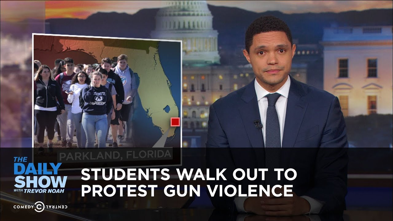 students-walk-out-to-protest-gun-violence-the-daily-show