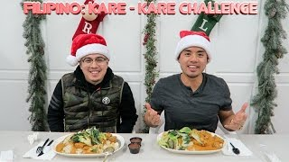 MASSIVE FILIPINO KARE KARE CHALLENGE! MUKBANG | 12 FOOD CHALLENGES OF XMAS: #9