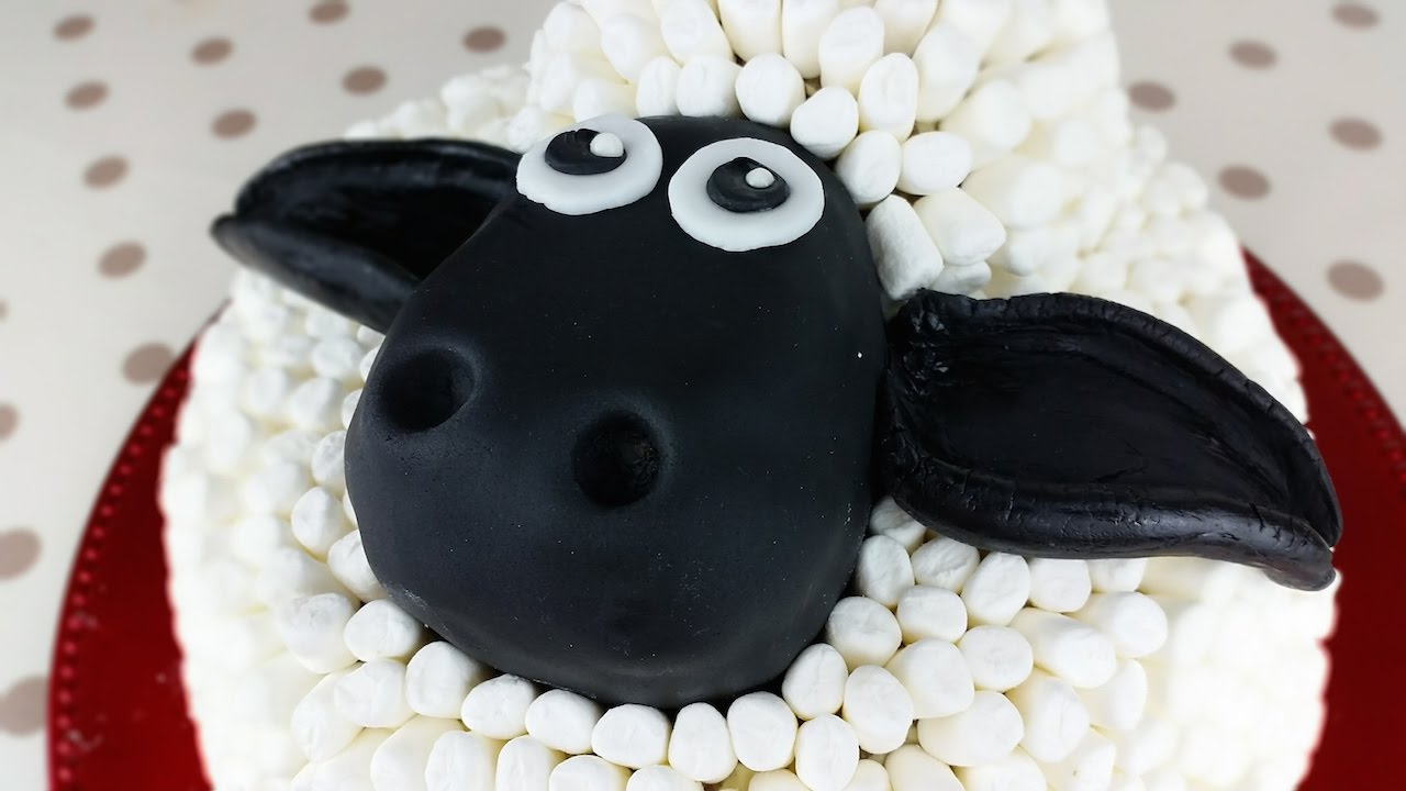 how to make a shaun the sheep black forest gateau cake from