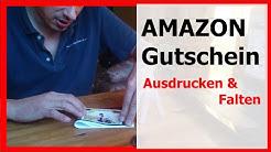 Amazon Gutschein ausdrucken & Falten - Video 2
