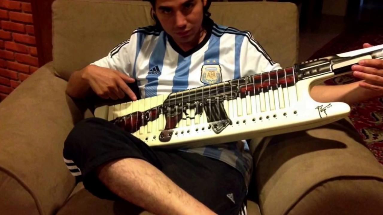 Foto del teclado de pablo lescano