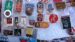 Значки олимпийские Москва -80