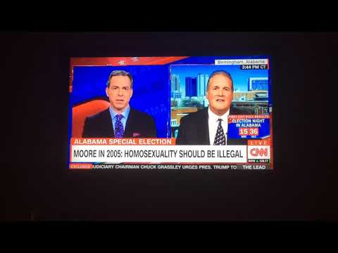 Roy Moore Spokesperson Froze during interview on CNN