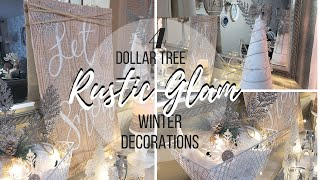 DIY DOLLAR TREE WINTER DECOR | COLLAB