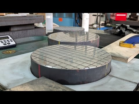 Making Flat lapping plates 3