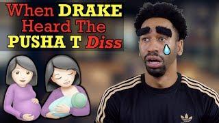 "When DRAKE Heard Pusha T ""The Story of Adidon"" Diss"