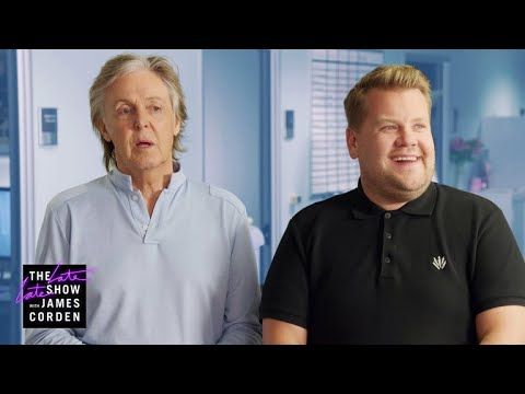 Paul McCartney Visits James Corden's Offices