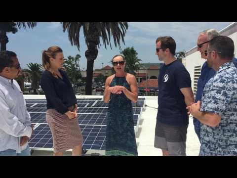 Debut of Hermosa Beach's Roof Repair and 1st Solar Project Installation
