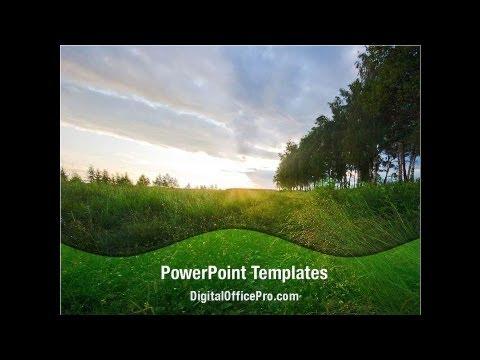 Summer Meadow PowerPoint Template Backgrounds - DigitalOfficePro
