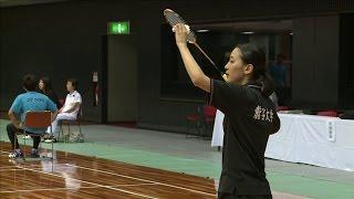 第66回 全日本学生バドミントン選手権大会 3コート 女子シングルス 準...
