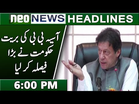 Neo News Headlines | 6:00 PM | 1 November 2018