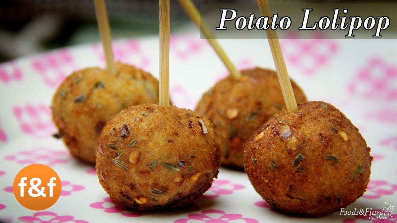 Potato Lollipop Recipe - Easy evening tea snacks recipes / Veg Party starters appetizer dish ...