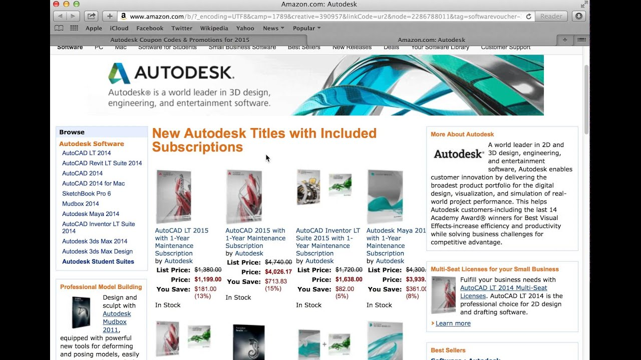 AutoDesk 2015 - How to use a coupon code from