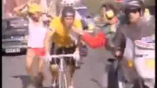 Les inconnus , Stade 2 avec Gérard Fanion (cycliste)