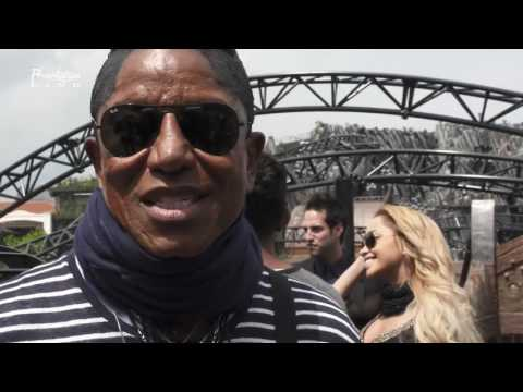 Jermaine Jackson, Jaafar Jackson and Jermajesty Jackson in Phantasialand 2016