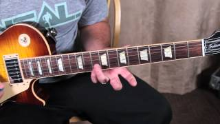 Metallica - One - How to Play the Second Solo On Guitar - Guitar Lessons - Metal