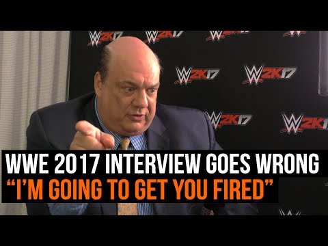 "WWE 2K17 interview with Paul Heyman goes wrong ""I'm going to get you fired"""