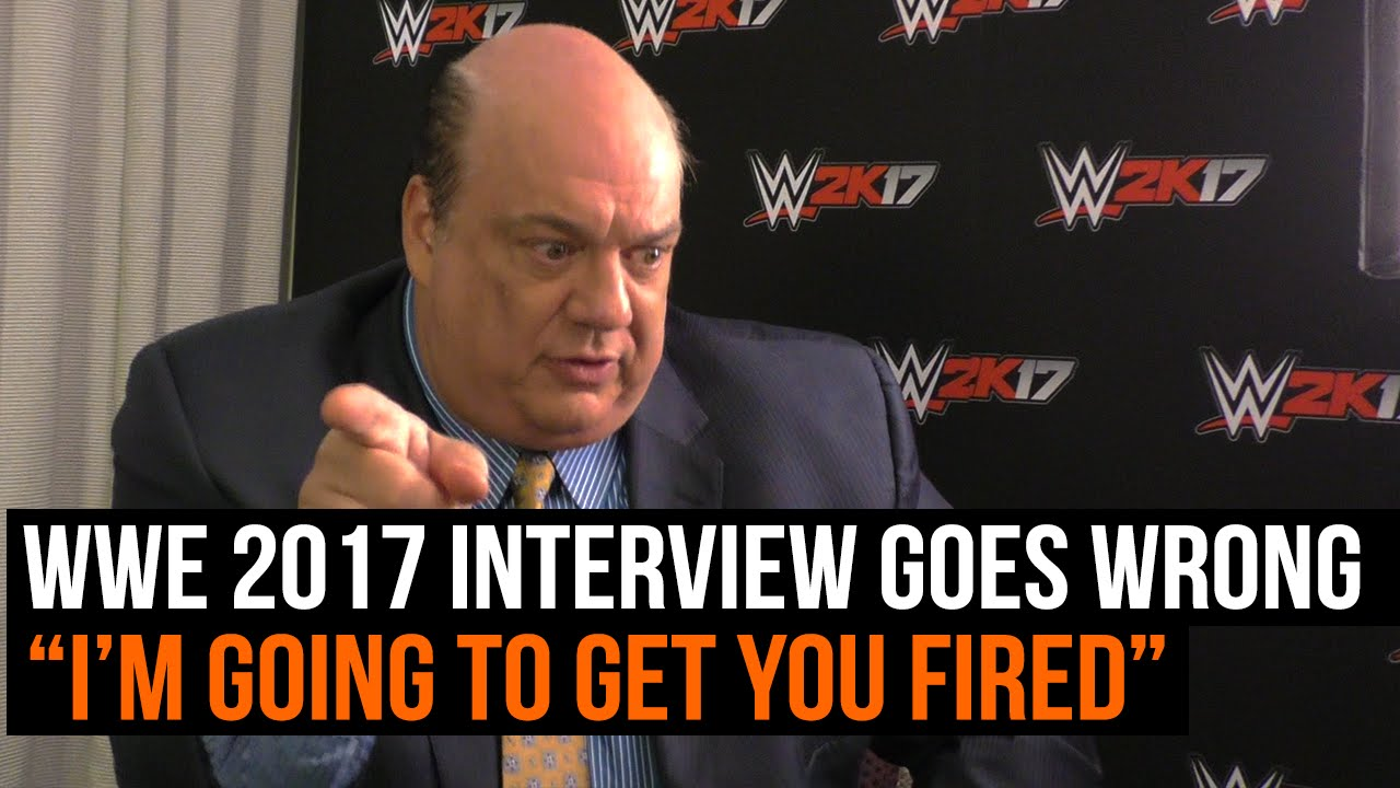 wwe 2k17 interview paul heyman goes wrong i m going to get wwe 2k17 interview paul heyman goes wrong i m going to get you fired