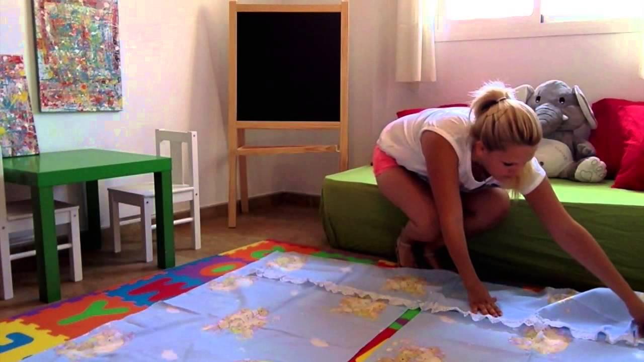 Como hacer las cortinas de la habitacion del bebe paso a for Como decorar una habitacion