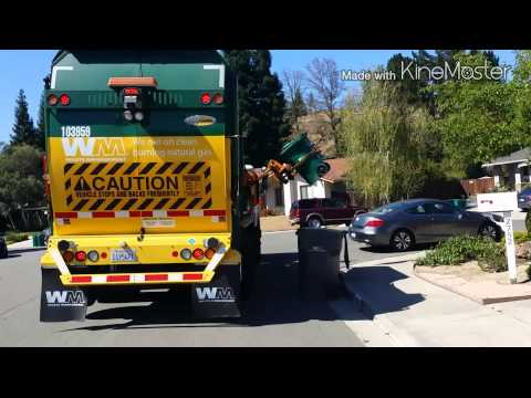 Waste Management Labrie Automizer Yard Waste Truck San Ramon Pickup