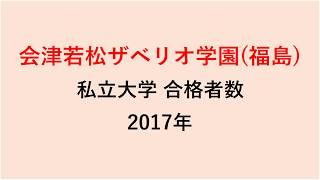 会津若松ザベリオ学園高校 大学合格者数 2017~2014年【グラフでわかる】