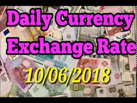 Daily Currency exchange Rate 10/06/2018