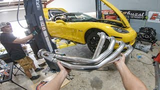 LéMon the Corvette gets a HUGE exhaust upgrade | Corsa Exhaust Install