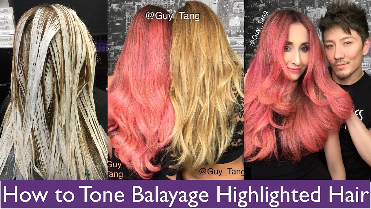How to Tone Balayage Highlight Hair