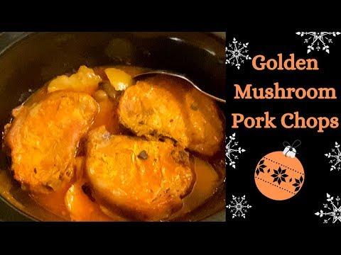 Slow Cooker Pork Chops & Golden Mushroom Gravy :)