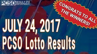 PCSO Lotto Results Today July 24, 2017 (6/55, 6/45, 4D, Swertres & EZ2)