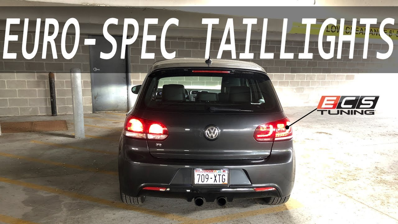 How to Install EuroSpec    Tail    Lights on a    MK6    VW    Golf       R