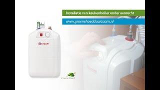 Installatie ELDOM 10 liter keukenboiler voor onder het aanrecht