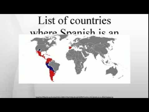 List of countries where Spanish is an official language