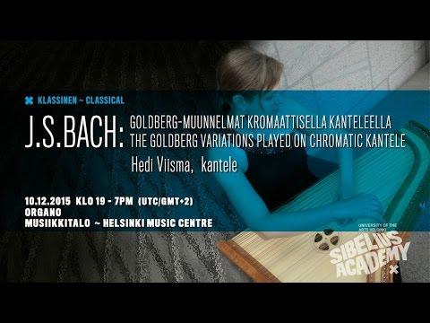 Hedi Viisma - Goldberg Variations By University Of The ARTS HELSINKI - SIBELIUS ACADEMY