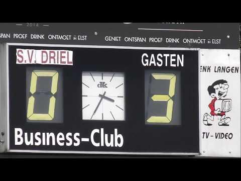 Driel 1 -  DIO' 30 1 (20 mei 2018) de doelpunten