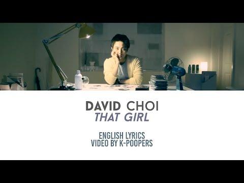 David Choi - That Girl Lyrics || by: K-Poopers