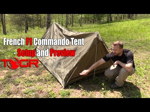 Inexpensive Military Shelter - French F1 Commando Tent - Setup And Preview