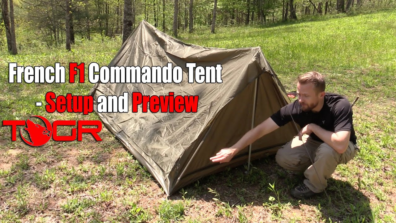 Inexpensive Military Shelter - French F1 Commando Tent - Setup and Preview - YouTube & Inexpensive Military Shelter - French F1 Commando Tent - Setup and ...