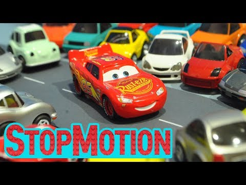 Thumbnail: Movie Cars 3 : Lighting McQueen's Driving - Stop Motion