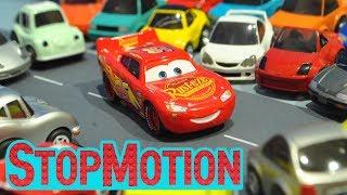 Disney Cars 3 : Lightning McQueen's Driving - Stop Motion