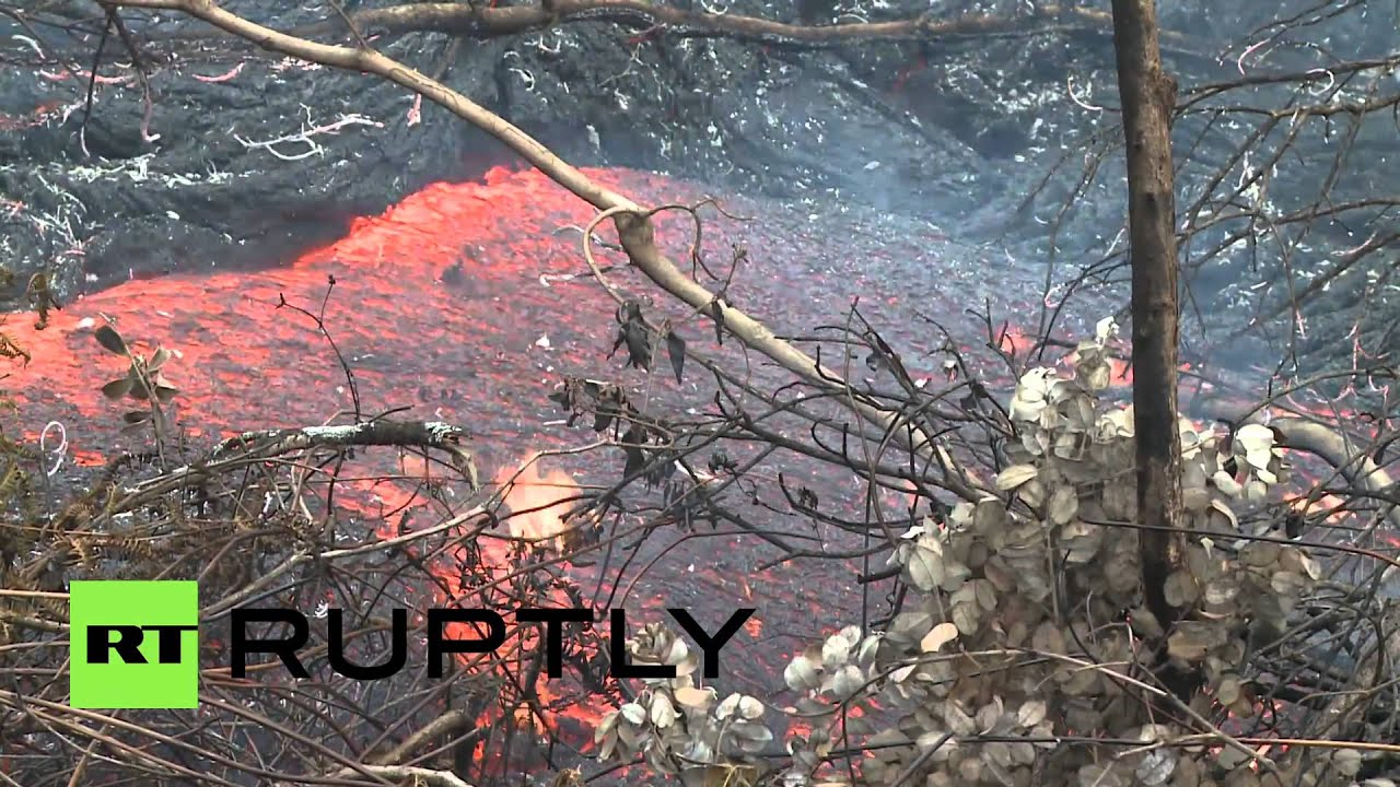 USA: Brand new footage shows Puna lava flow devastating ...