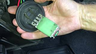 Skoda Fabia Fan speed 4 resistor pack replacement repair