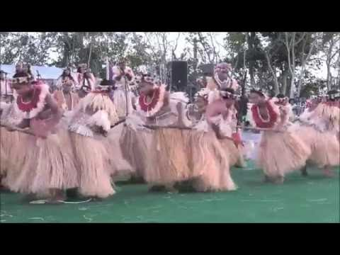 Marshallese Jobwa Stick Dance at the 2016 Festival in Guam.