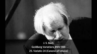 J. S. Bach - Goldberg Variations BWV 988 - 25. Variatio 24 - Canone all'ottava (25/32)